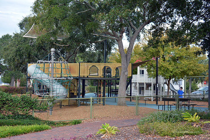 A town playground in Beaufort SC