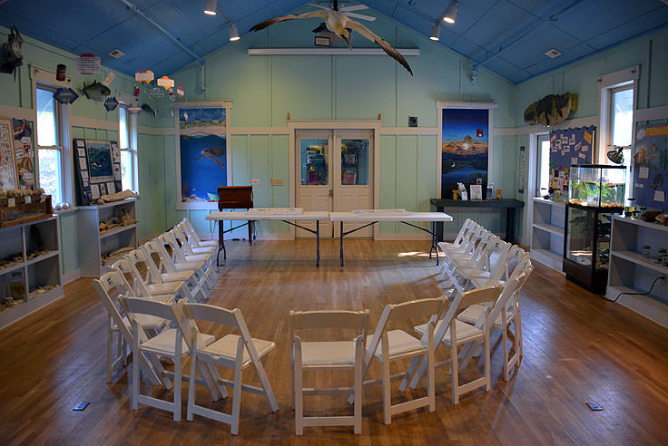 A classroom at Bald Head Island Conservancy