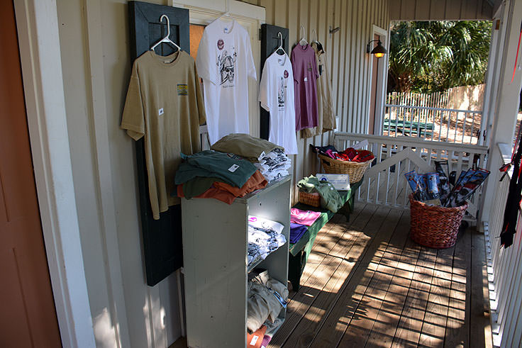 The gift shop at Old Baldy Lighthouse, Bald Head Island NC