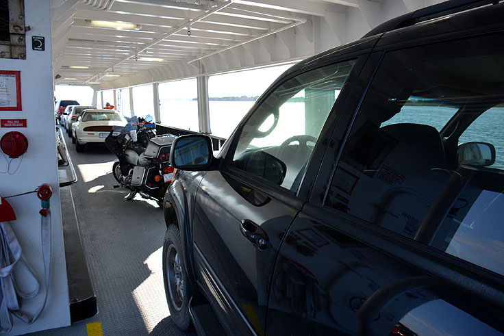 Cars on the Fort Fisher ferry