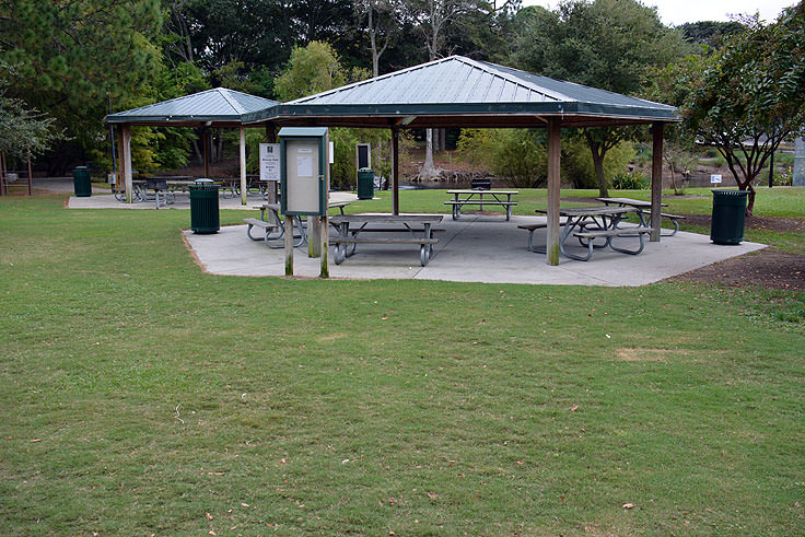 Picnic shelters at Mclean Park in Myrtle Beach, SC
