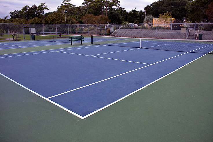 Tennis courts at Mclean Park in Myrtle Beach, SC