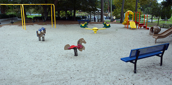 A playground at Mclean Park in Myrtle Beach, SC