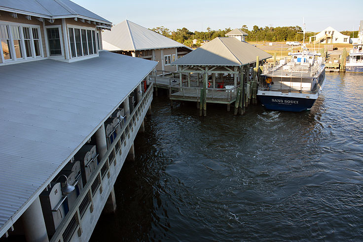 The ferry terminal in Southport, NC