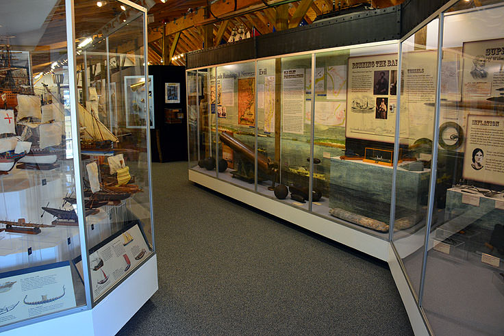 Exhibits at the NC Maritime Museum at Southport