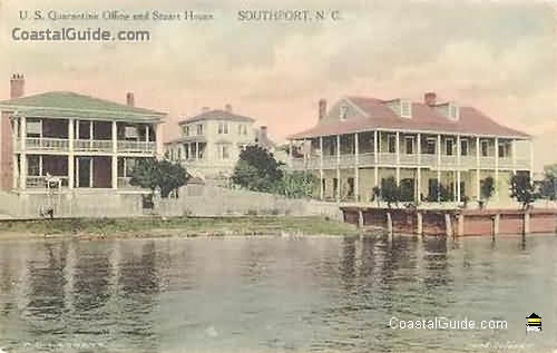 Vintage photo of historic Southport, NC