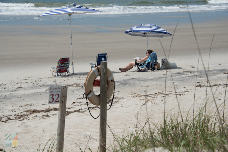 A day on the beach on Bald Head Island