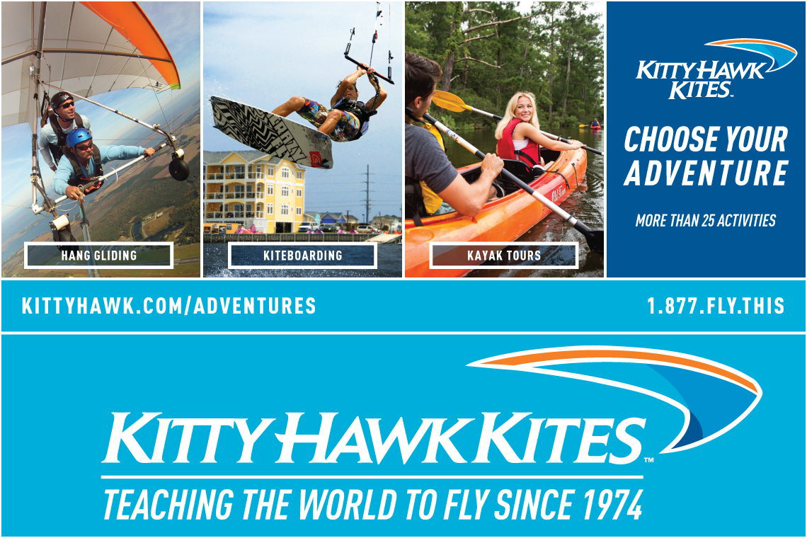 $10 OFF HANG GLIDING AT KITTY HAWK KITES