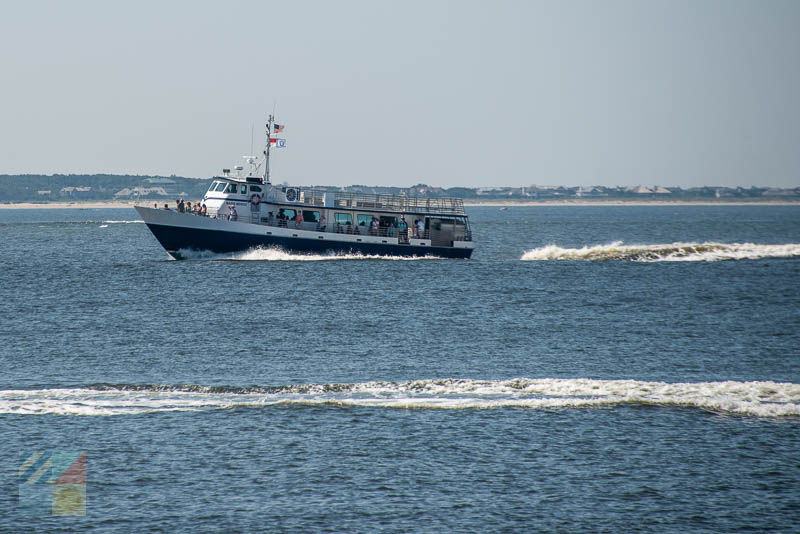 The Bald Head Island Ferry provides an inexpensive way to boat near Southport NC