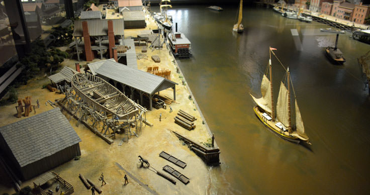 A miniature historic display at the Cape Fear Museum in Wilmington, NC