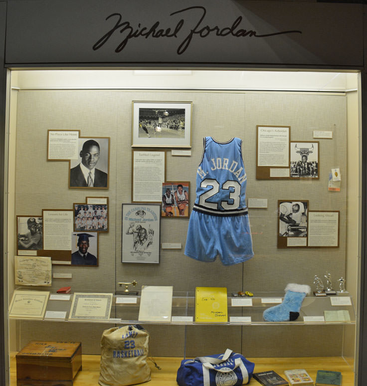 A Michael Jordan exhibit at the Cape Fear Museum in Wilmington, NC