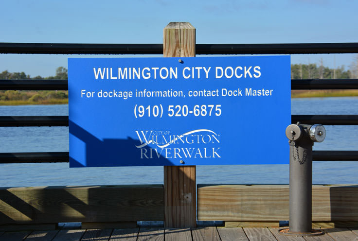 Wilmington City Docks at the Riverwalk in Wilmington, NC