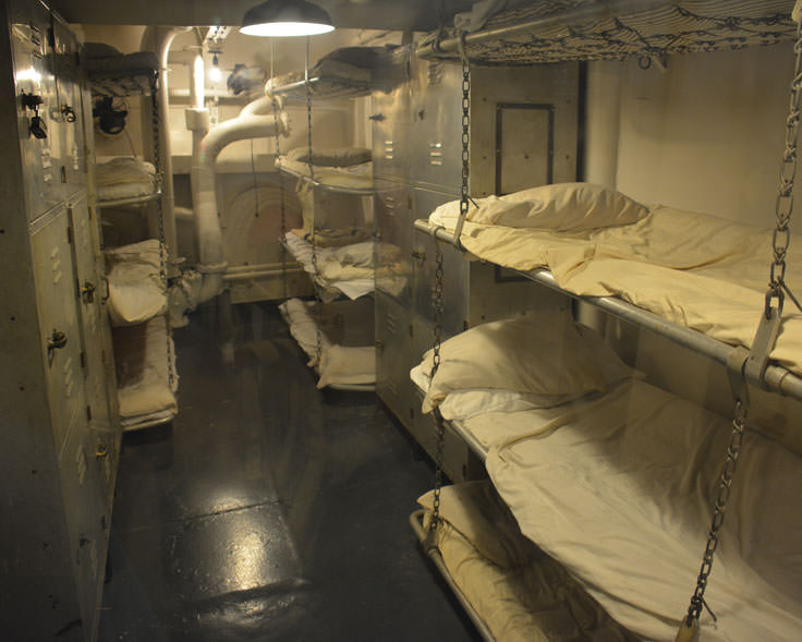 Bunks in the USS North Carolina in Wilmington, NC