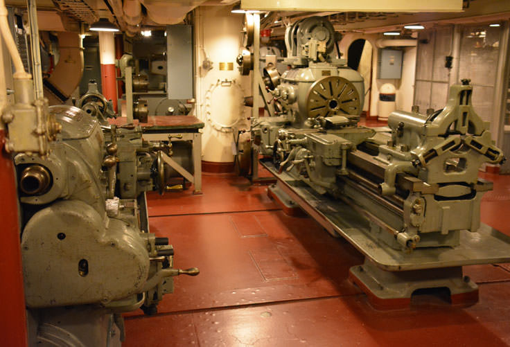 Machine Shop on the USS North Carolina in Wilmington, NC