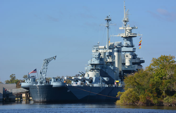 USS North Carolina in Wilmington, NC