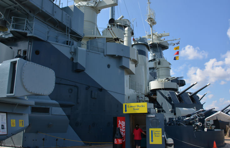 Go below deck at the USS North Carolina in Wilmington, NC